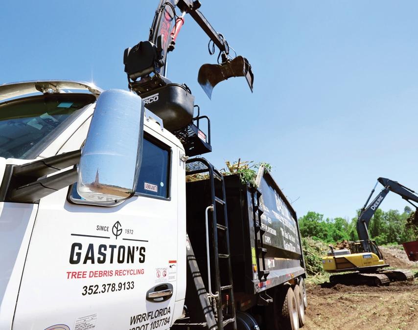 Gaston's Tree Debris Recycling truck